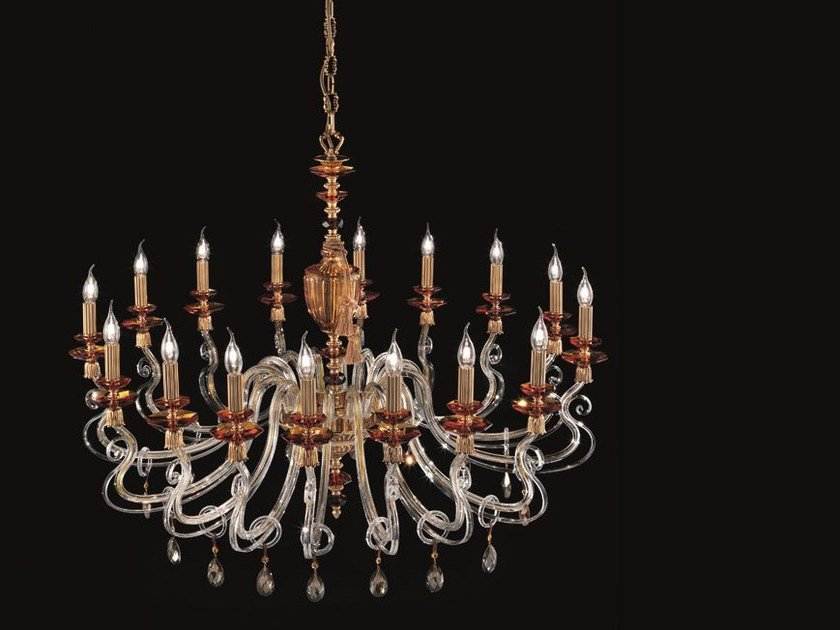 Chandelier with Swarovski® Crystals ELSA SPECIAL EDITION L16 by Euroluce Lampadari