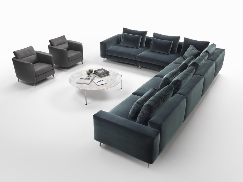 Sectional fabric sofa ELVIS | Sectional sofa by Marac