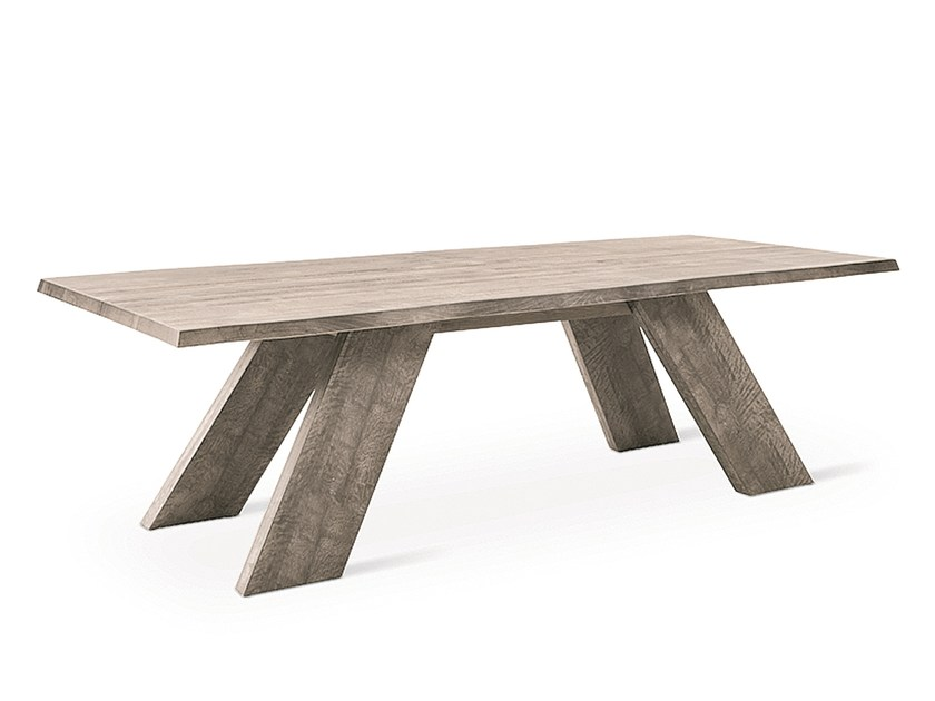 Rectangular wooden table ELWOOD by Natisa