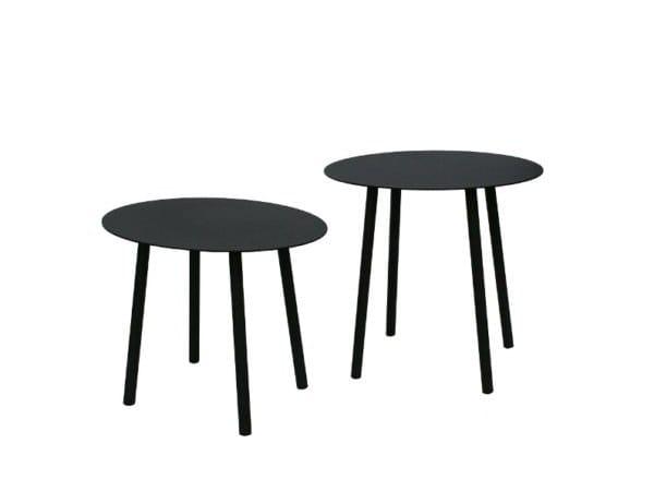 Round galvanized steel coffee table ELYPSO by RD Italia