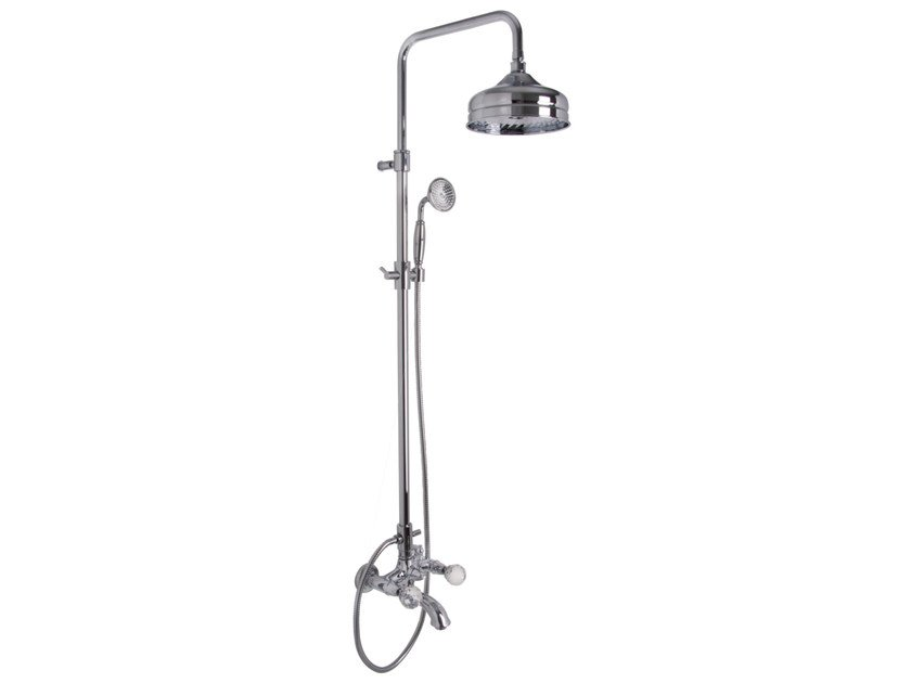 Wall-mounted shower panel with overhead shower ELIZABETH CHIC F5084/2C | Shower panel by FIMA Carlo Frattini