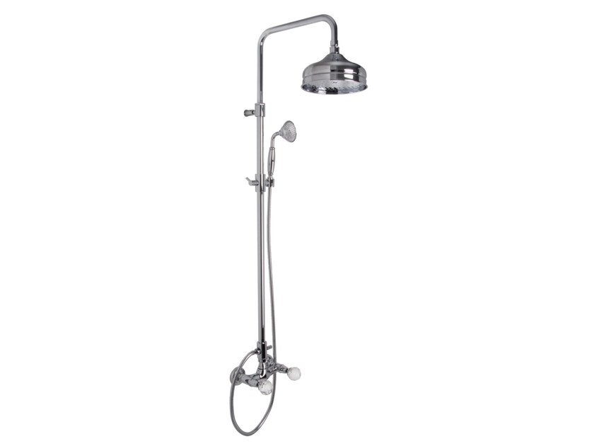 Wall-mounted shower panel with overhead shower ELIZABETH CHIC F5085/2C | Shower panel by FIMA Carlo Frattini
