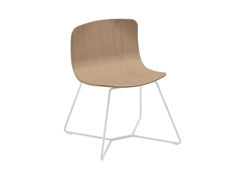 Sled base multi-layer wood chair EMBER | Sled base chair by Albaplus