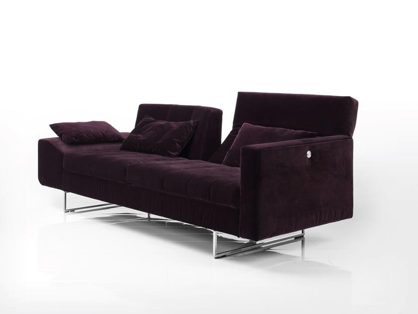 Recliner convertible fabric sofa EMBRACE | Fabric sofa by brühl