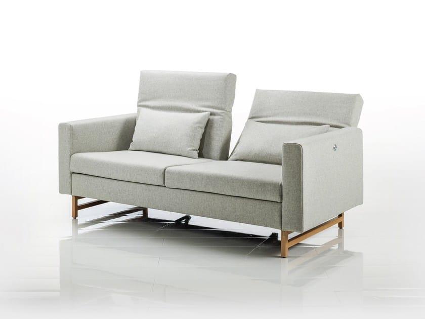 2 seater recliner fabric sofa EMBRACE | Fabric sofa by brühl