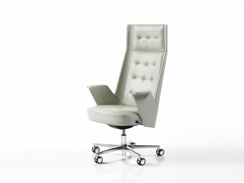High-back leather executive chair EMBRACE | High-back executive chair by ESTEL GROUP