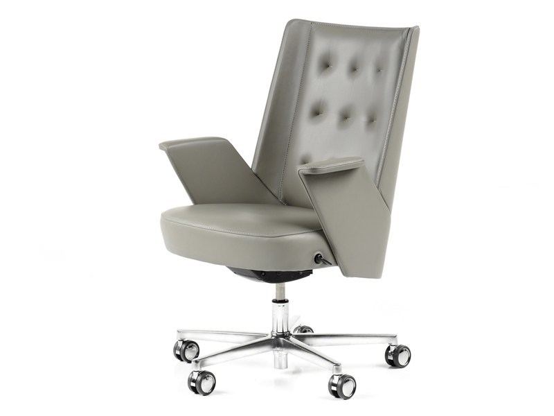 Medium back leather executive chair EMBRACE | Medium back executive chair by ESTEL GROUP