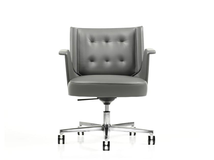 Poltrona ufficio direzionale in pelle con schienale basso EMBRASSE | Poltrona ufficio direzionale con schienale basso by ESTEL GROUP