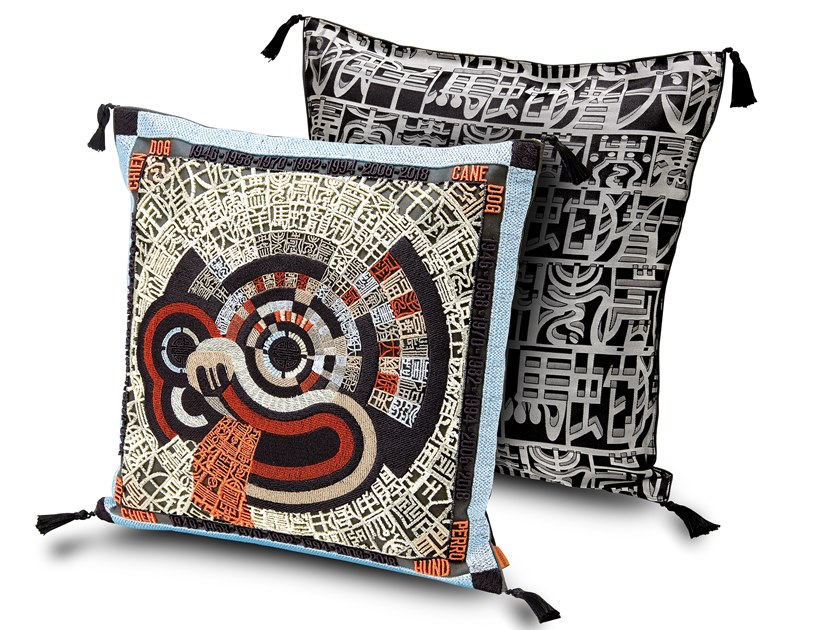 Embroidered cushion OROSCOPO | Embroidered cushion by MissoniHome