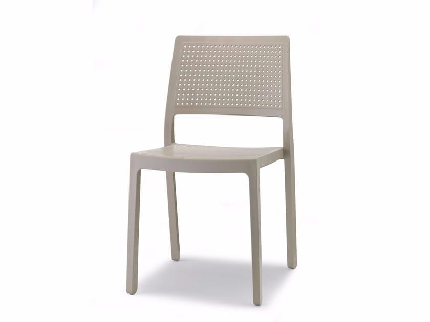 Sedia da ristorante impilabile in tecnopolimero in stile moderno EMI | Sedia by SCAB DESIGN