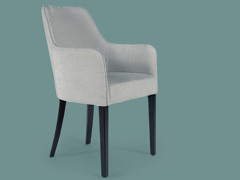 Upholstered fabric chair with armrests EMILY   Fabric chair by Borzalino