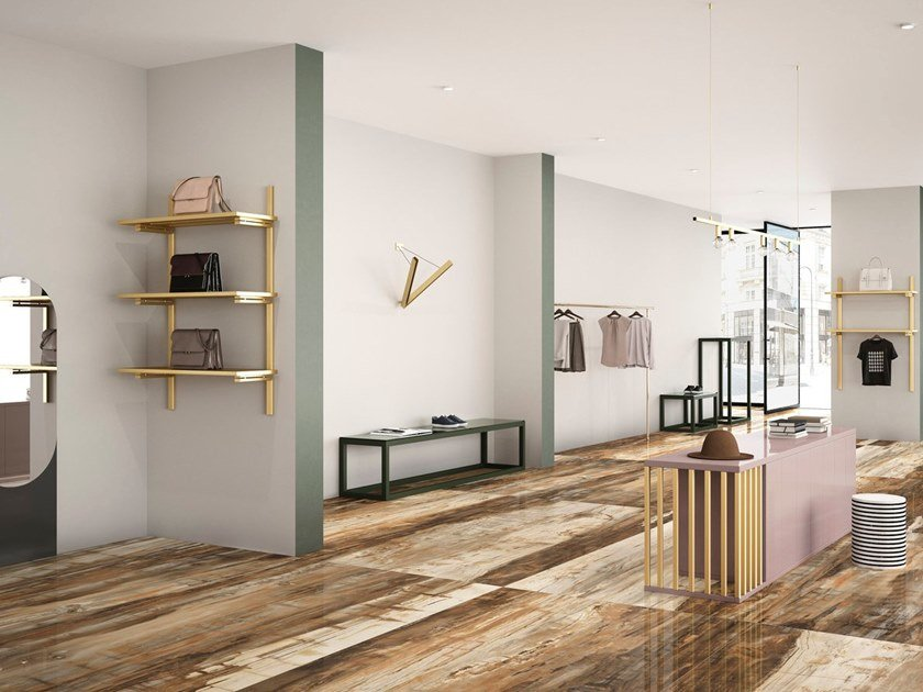 Porcelain stoneware wall/floor tiles with wood effect EMINENT BROWN by GranitiFiandre