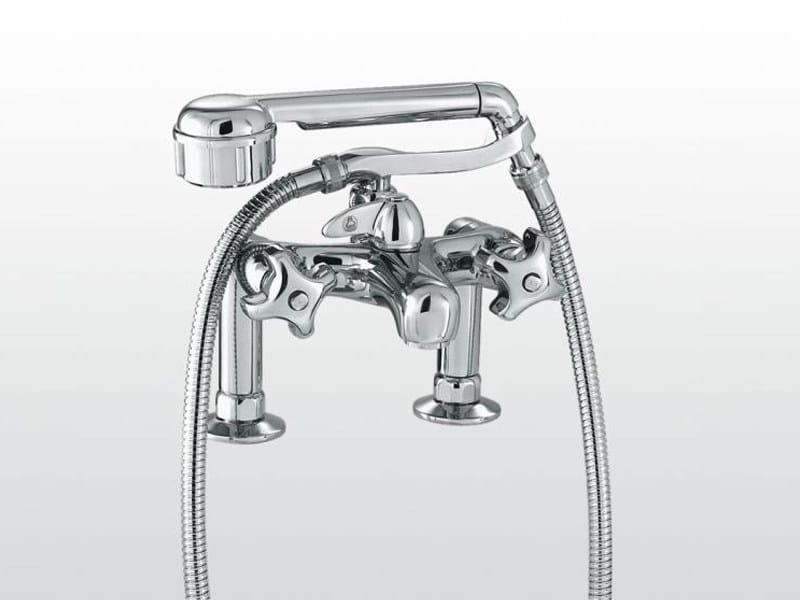 robinet pour baignoire 2 trous avec douchette emisfero | 3267rg306 ... - Robinet De Baignoire Avec Douchette