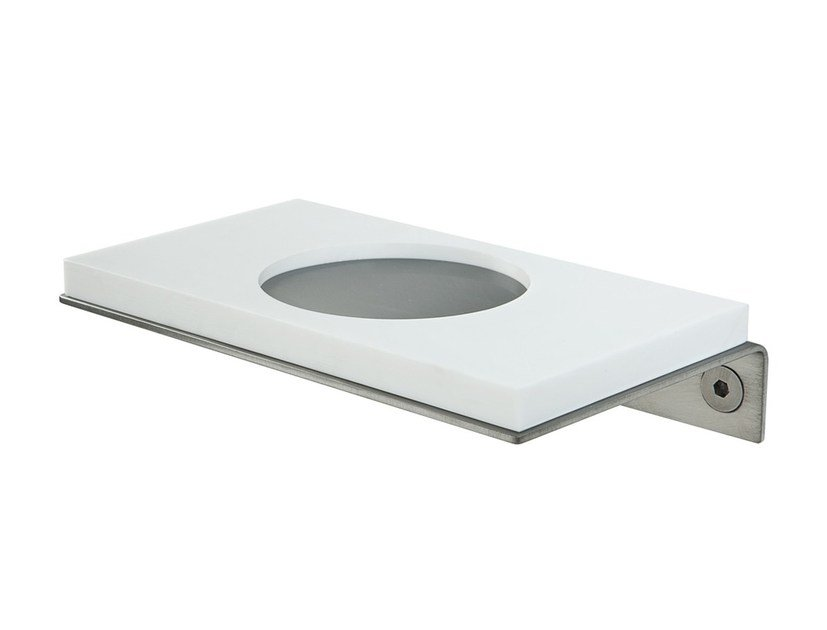 Wall-mounted Corian® toothbrush holder EMME 1553+CO63 by MINA