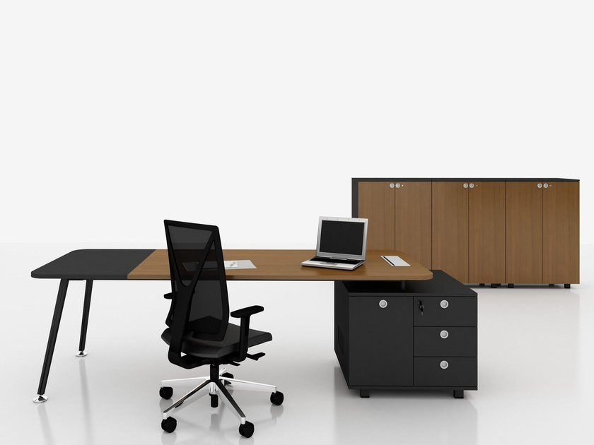 Workstation desk with shelves E-MOTION | Workstation desk by Tuna Ofis