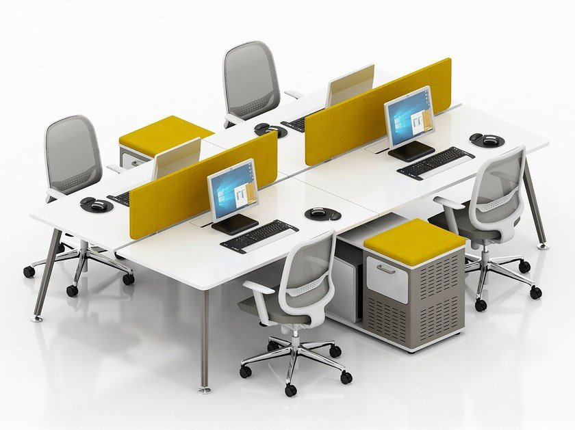 Multiple office workstation E-MOTION | Office workstation by Tuna Ofis