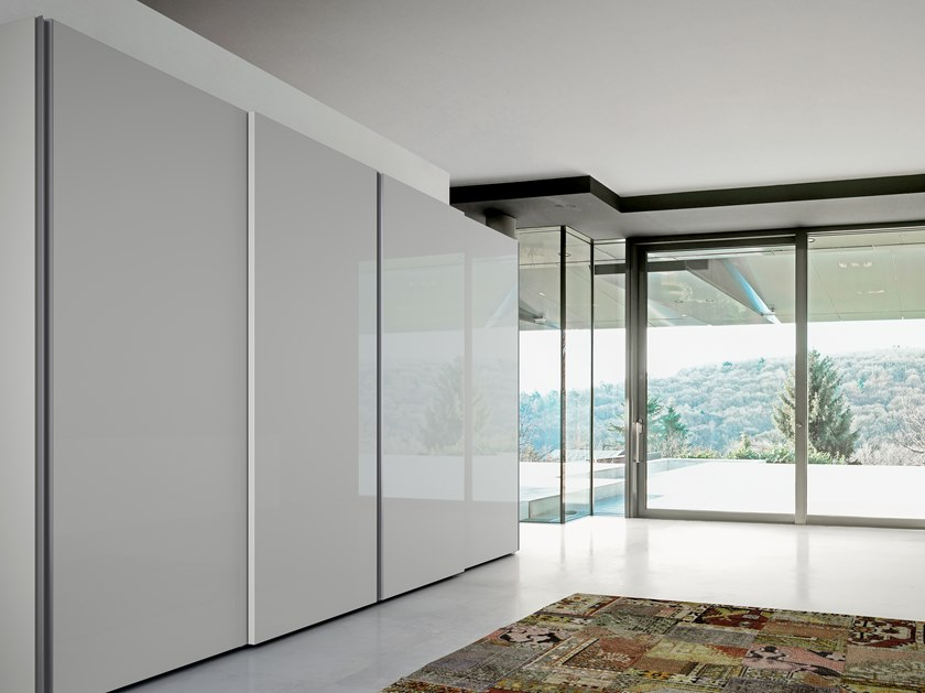 Lacquered wardrobe with sliding doors EMOTION UP EM23 by Dall'Agnese