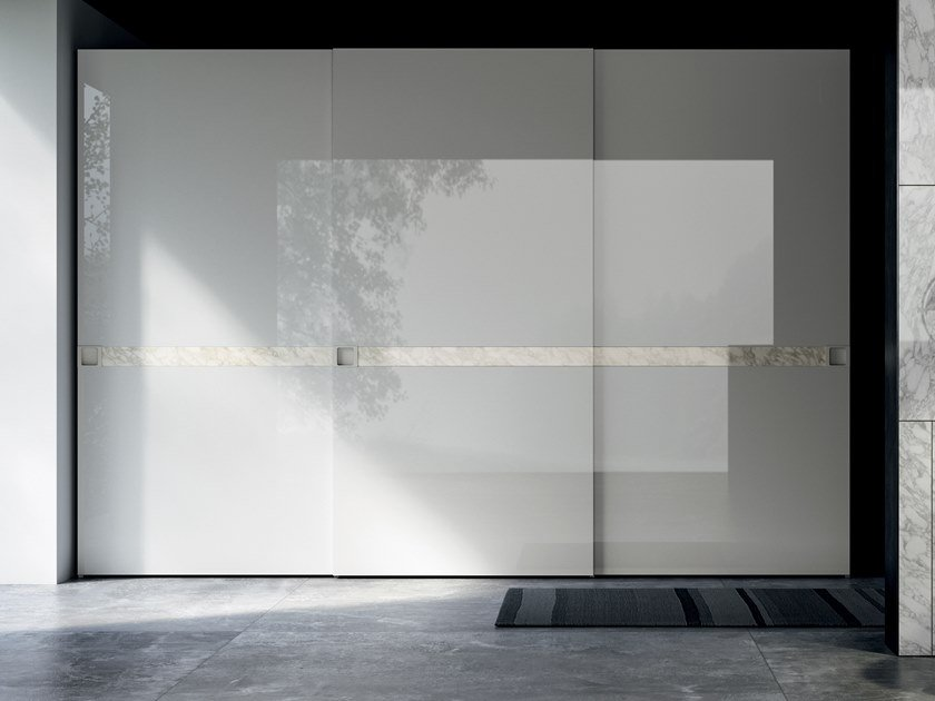 Lacquered wardrobe with sliding doors EMOTION UP EM26 by Dall'Agnese