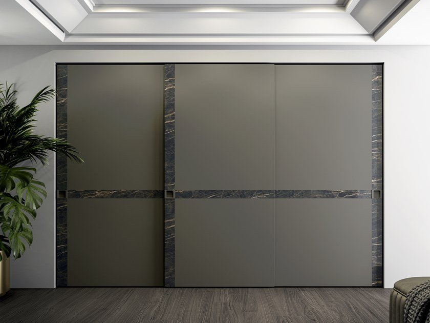 Lacquered wardrobe with sliding doors EMOTION UP EM25 by Dall'Agnese