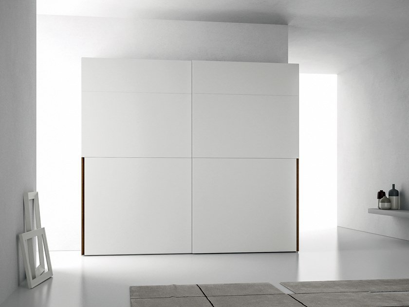 Lacquered wardrobe with sliding doors EMOTION UP EM28 by Dall'Agnese