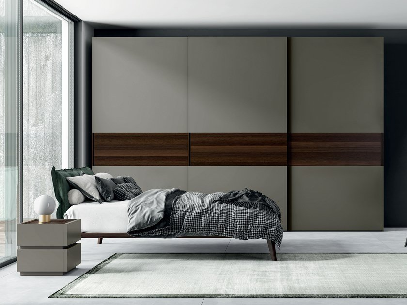Lacquered wardrobe with sliding doors EMOTION UP EM29 by Dall'Agnese