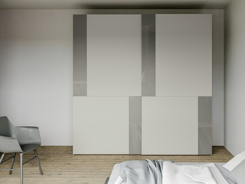 Lacquered wardrobe with sliding doors EMOTION UP EM35 by Dall'Agnese