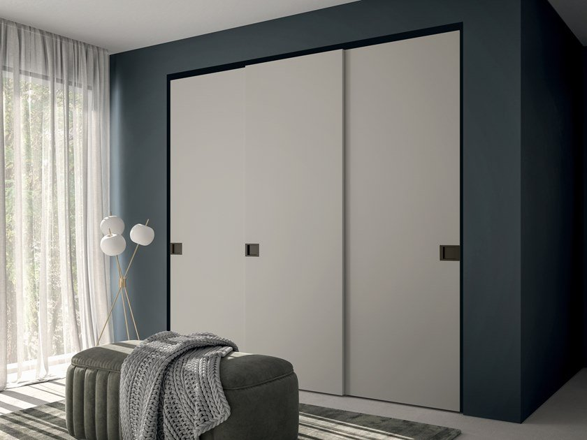 Melamine-faced chipboard wardrobe with sliding doors EMOTION UP EM36 by Dall'Agnese