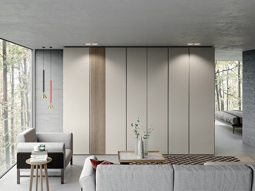 Lacquered wardrobe EMOTION UP EM03 by Dall'Agnese