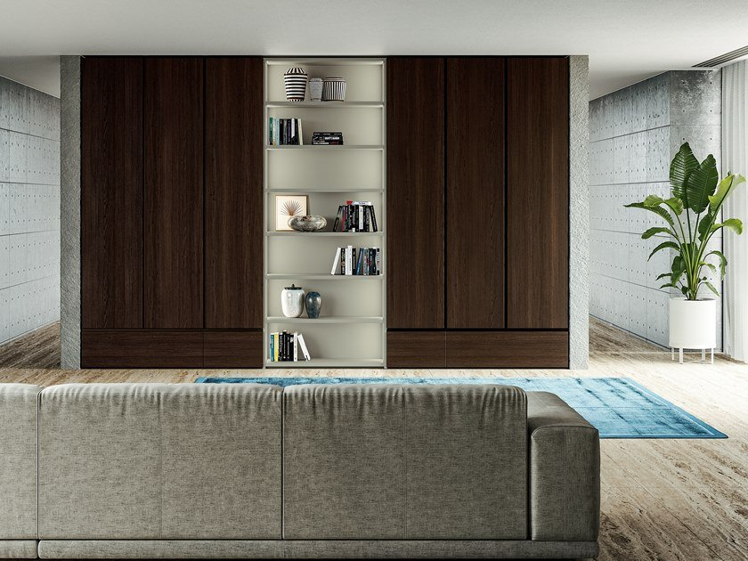 Built-in oak wardrobe EMOTION UP EM05 by Dall'Agnese