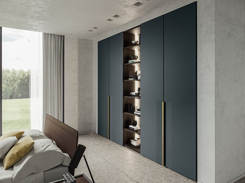 Built-in lacquered wardrobe EMOTION UP EM06 by Dall'Agnese