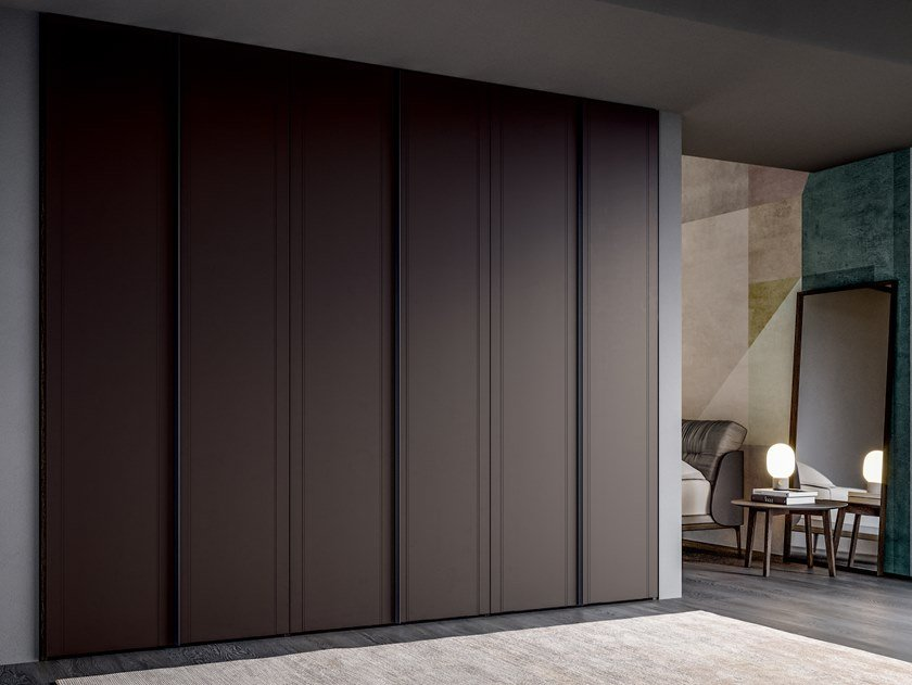 Built-in tanned leather wardrobe EMOTION UP EM09 by Dall'Agnese