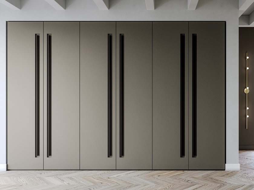 Built-in lacquered wardrobe EMOTION UP EM12 by Dall'Agnese