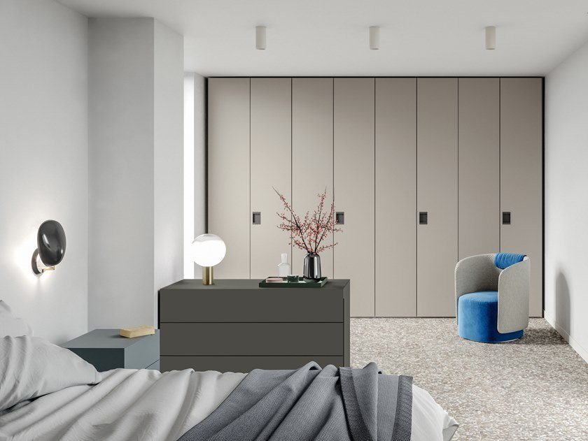 Built-in melamine-faced chipboard wardrobe EMOTION UP EM18 by Dall'Agnese