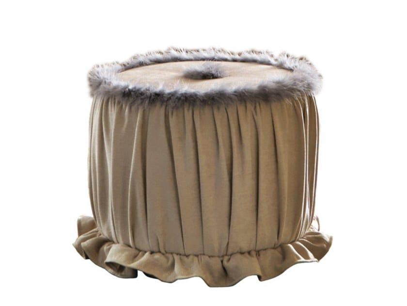 Round fabric pouf EMOZIONI | PF005 by Martini Interiors