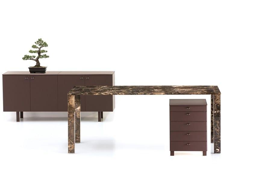 Rectangular Emperador marble executive desk EMPERADOR by Polflex