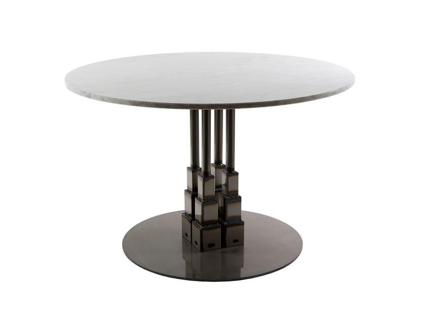 Round marble contract table EMPIRE 85/4 by Vela Arredamenti