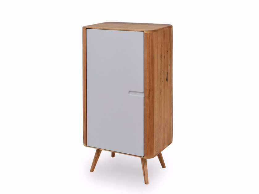 Lacquered highboard with doors ENA CABINET by Gazzda