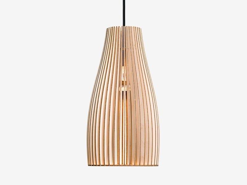 Plywood pendant lamp ENA L by IUMI