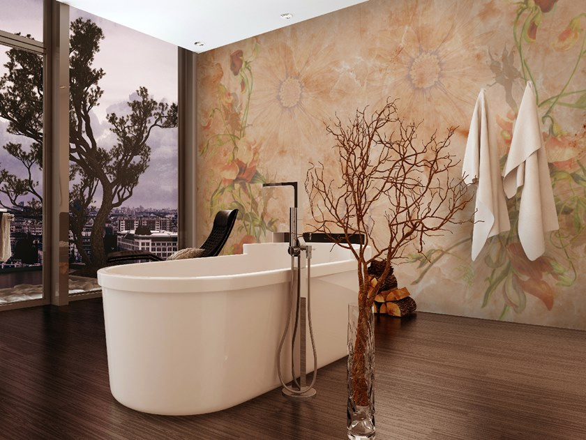 Glass-fibre wallpaper ENCHANTED FLOWERS by Wall LCA