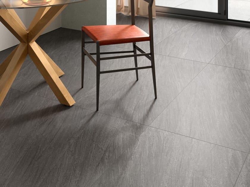 Pavimento/rivestimento in gres porcellanato effetto pietra ENCODE DARK by Marca Corona