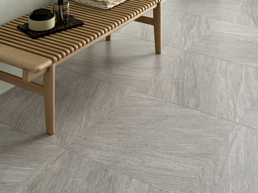 Pavimento/rivestimento in gres porcellanato effetto pietra ENCODE SHELL by Marca Corona