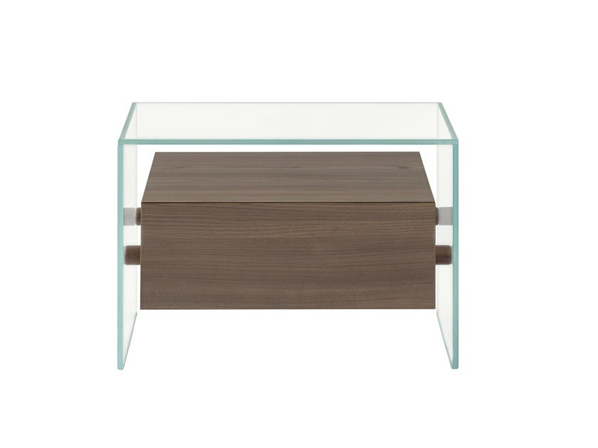 Rectangular bedside table with drawers ENCORE 1 by Maiullari