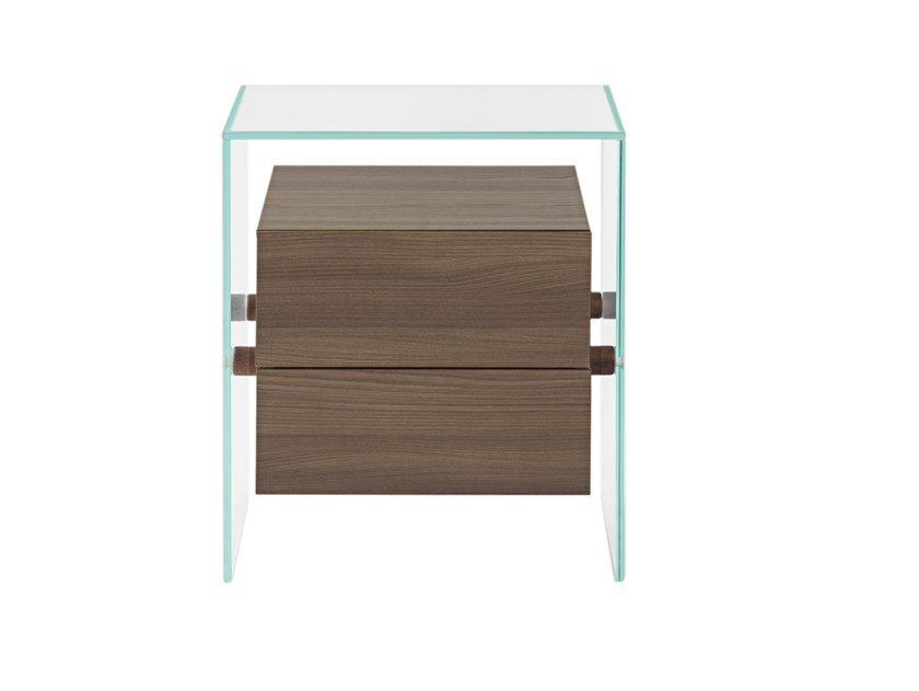 Rectangular bedside table with drawers ENCORE 2 by Maiullari