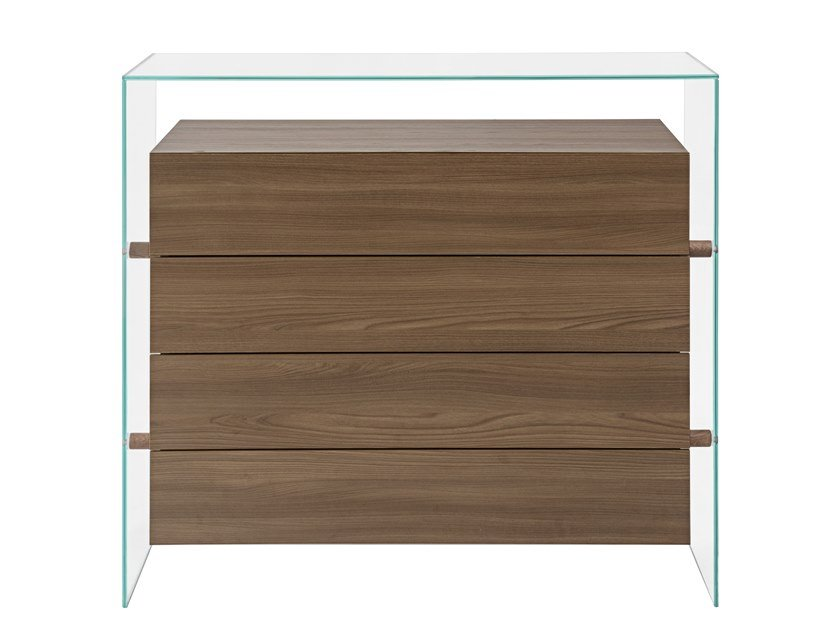 Glass chest of drawers ENCORE | Chest of drawers by Maiullari