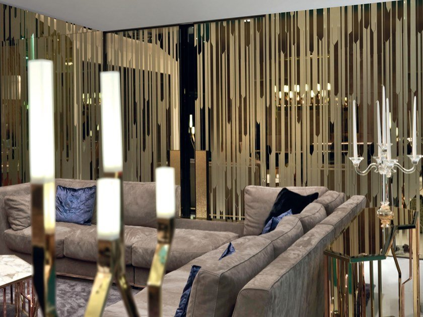 Mirrored glass boiserie ENDLESS | Mirrored glass boiserie by Longhi