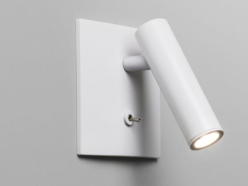 LED direct light adjustable aluminium wall lamp ENNA SQUARE by Astro Lighting