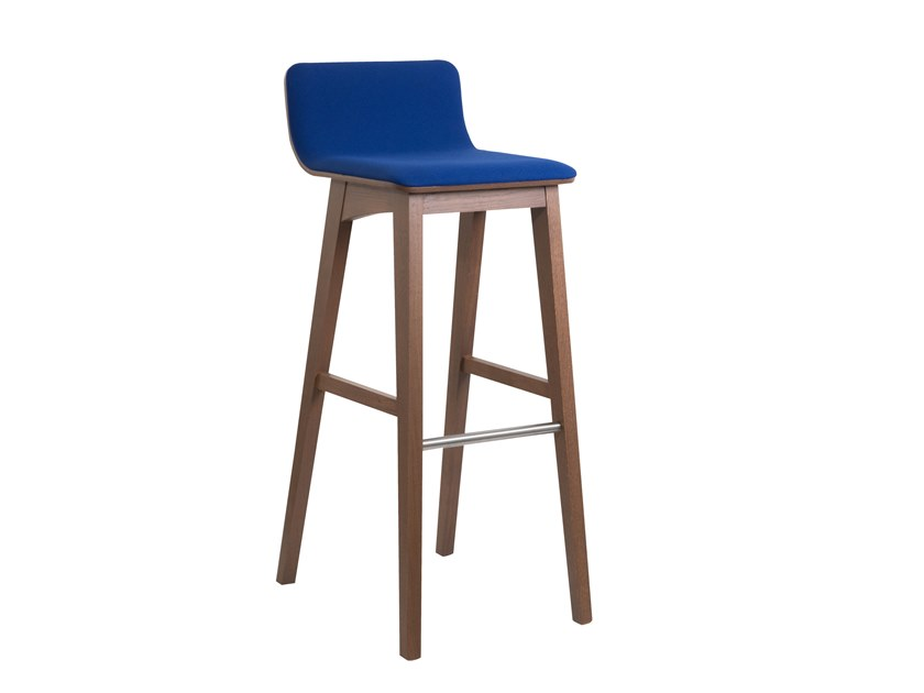 High fabric barstool ENOA | Fabric stool by Perrouin