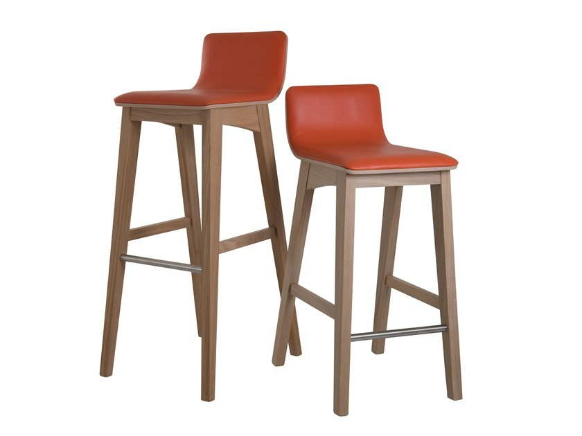 High leather barstool ENOA | Leather stool by Perrouin