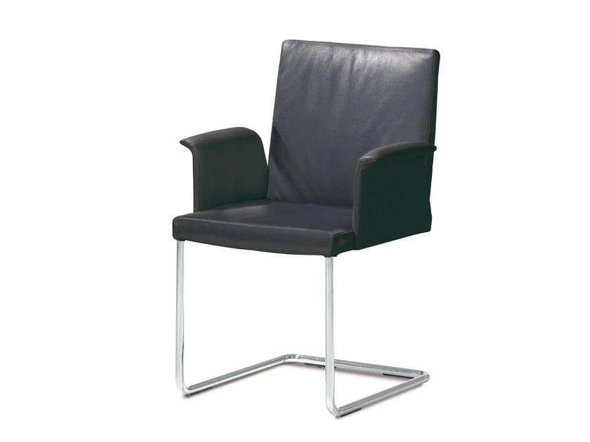 Cantilever restaurant chair with armrests ENOKI | Restaurant chair by JORI