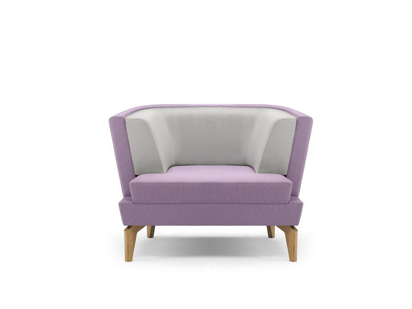 Upholstered armchair with armrests ENTENTE | Armchair by Boss Design